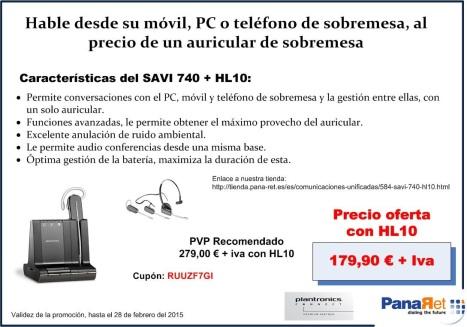 Oferta SAVI740HL febrero 2015