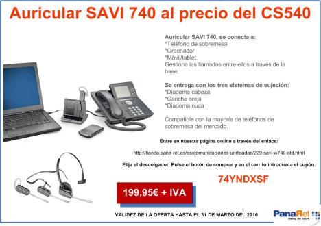 Oferta SAVI 740 marzo 2016